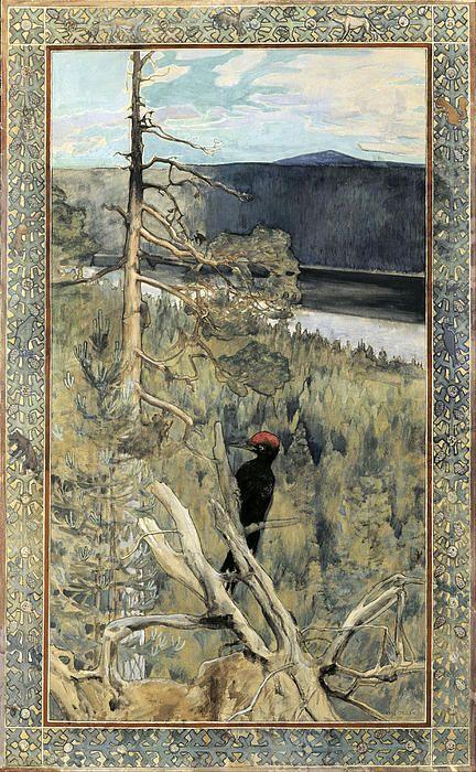 Great Black Woodpecker  Akseli Gallen-Kallela