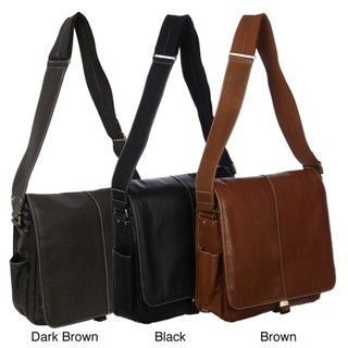 Amerileather Leather 'Teddy' Vertical Messenger Bag | Overstock.com Shopping - The Best Deals on Leather Messenger Bags