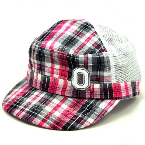 NCAA Ohio State Buckeyes Women's Sassy Adjustable Cap, Pink/Grey Plaid, One Size by Top of the World. Save 60 Off!. $7.18