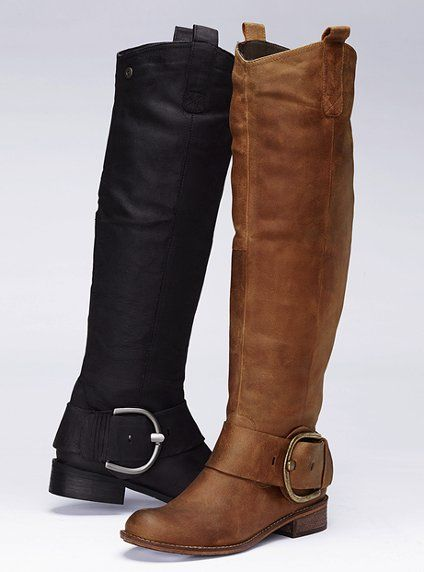 Steve Madden side buckle bootBuckle Boots, Side Buckles, Madden Boots, Boots Lov, Riding Boots, Steve Madden, Madden Side, Brown Boots, Buckles Boots