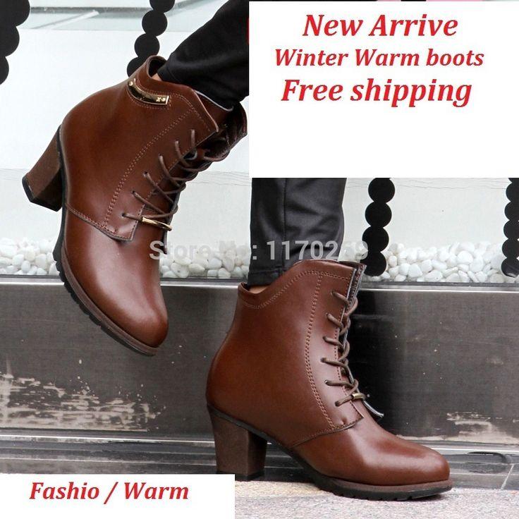 Женские сапоги зима 2015 женские туфли на каблуках натуральная кожа зимой женская обувь - сапоги высокие мода женские меховые сапоги