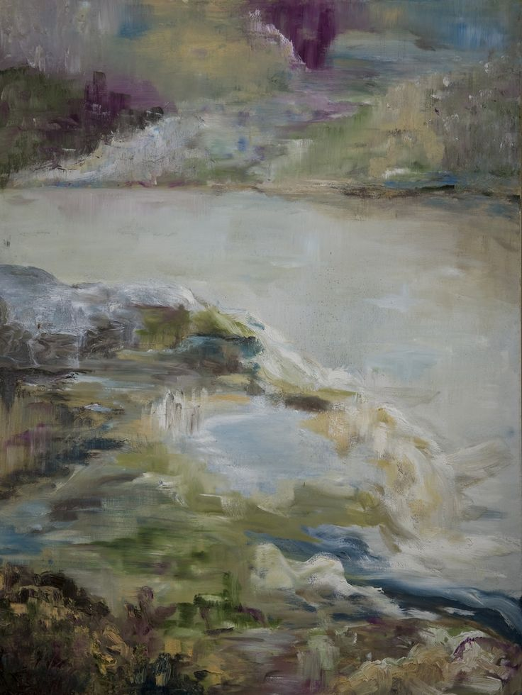 Rustige beek. Quiet stream. Oilpainting on linnen. Size: 120 x 90 cm. FOR SALE: € 425,00