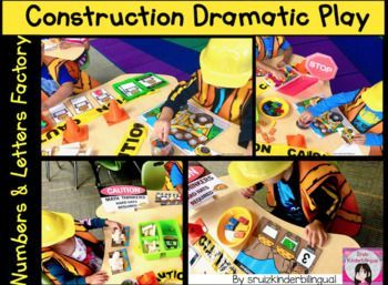 CONSTRUCTION DRAMATIC PLAY Numbers & Letters Facto…