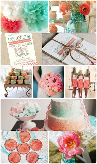 turquoise and coral wedding | Bride To Be Fitness: Coral  Turquoise Wedding Inspiration