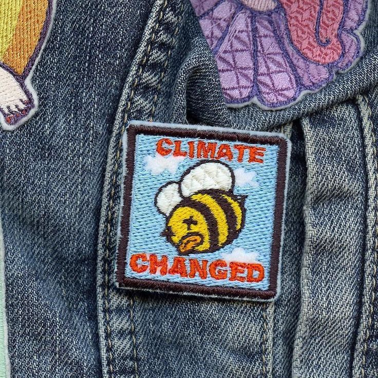 #Repost @eldowho  Climate changed  1.75'' iron-on patch on eldowho.etsy.com #savethebees? #climatechangeisreal #scienceisreal #resist #resistance #illustration #embroidery #embroidered #embroider #illustrator #etsyseller #drawing #comic #patch #patchgame #lowbrow #denimflair #streetwear #wearableart #psychedelicart #trippyart #politicalhumor? #globalwarming #supportindependent    (Posted by https://bbllowwnn.com/) Tap the photo for purchase info.  Follow @bbllowwnn on Instagram for great…