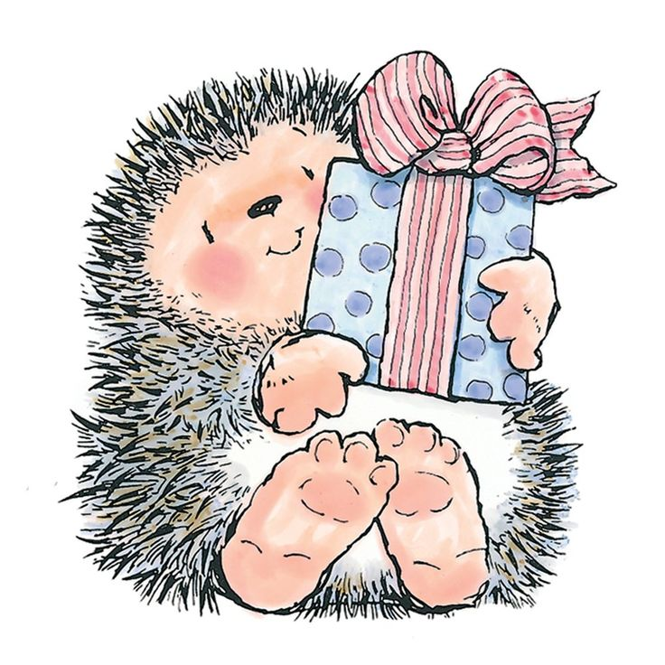 Penny black rubber stamps hedgehog a gift for you