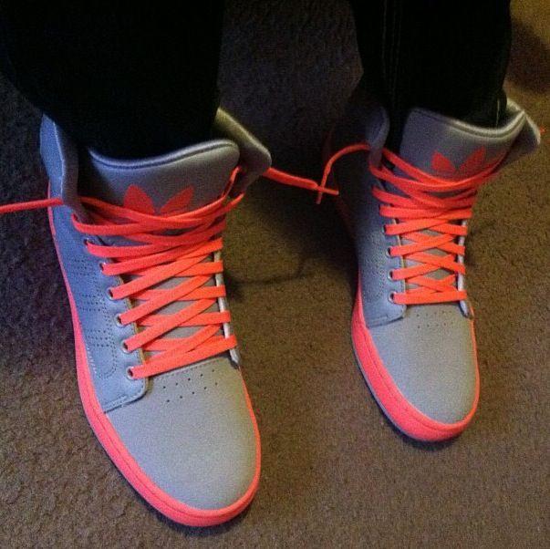 Adidas High Tops Grey And Orange