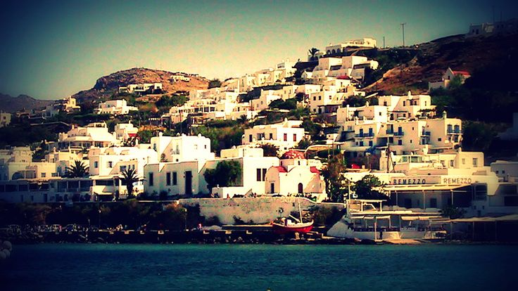 A view of Mykonos Town (Chora)...
