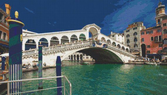 Rialto Bridge Venice Cross Stitch Pattern by Mydreamsofavalon, $6.00