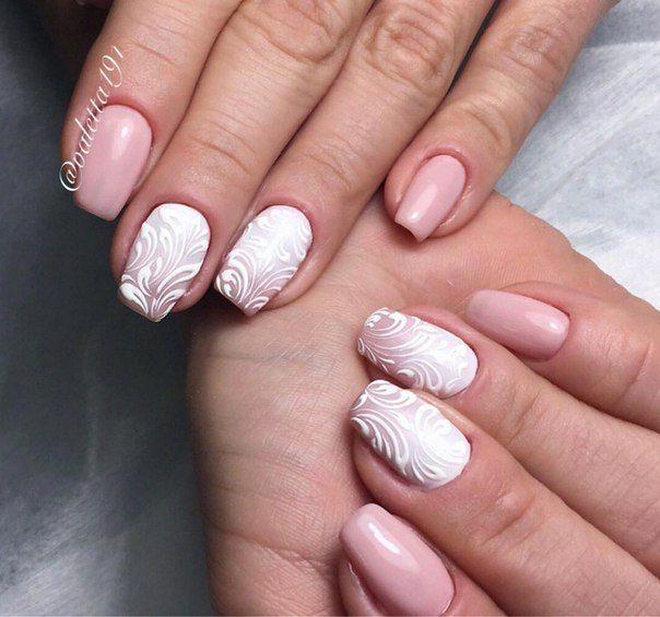 Beautiful patterns on nails, Drawings on nails, Elegant nails, Evening nails, Festive nails, Ideas of winter nails, Luxury nails, Original nails