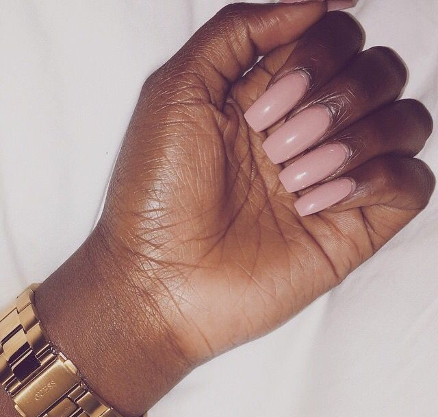 Long nude nails, I love them!