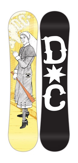 "2014 DC - PBJ ""NUN GANG""    1 of 5 Boards in a series that I designed for DC snowboards."