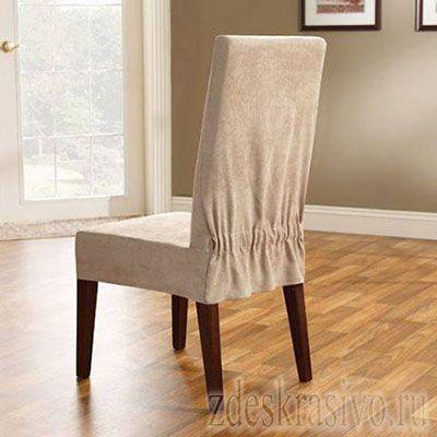 Чехол на стул с резинкой на спинке