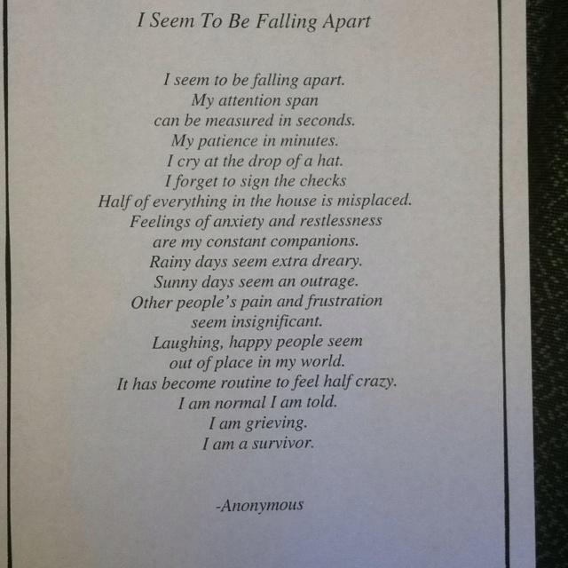 .Suicide Survivor, Wheelie Wife, Via Elaux, My Heart, So True, Forever Change, Fall Apartments, Dads, Falling Apart