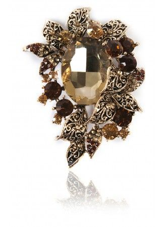 Gold Brooch, Buy Gold Drizzle Broach Online for Cheap in India