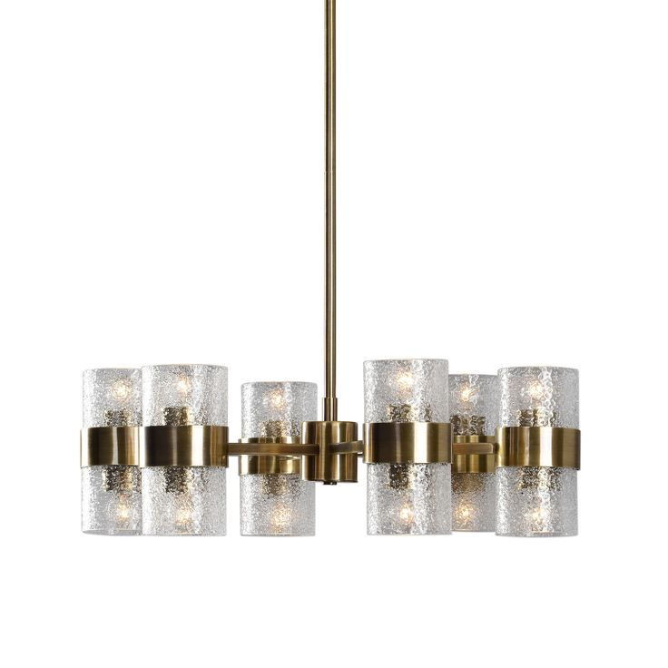 Marinot 12-Light Antique Brass Chandelier by Uttermost