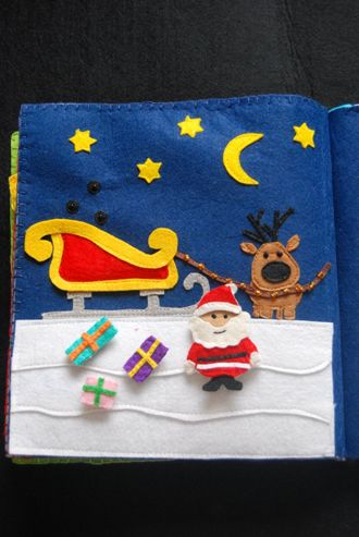 The Quiet Book Blog: Magda's Christmas Quiet Book