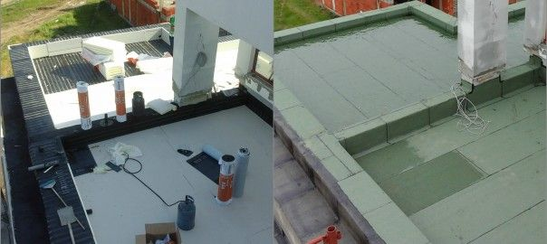 Thickness And Layers For A New Terrace Water Insulation Log Flat Roof Terrace Tennis Court