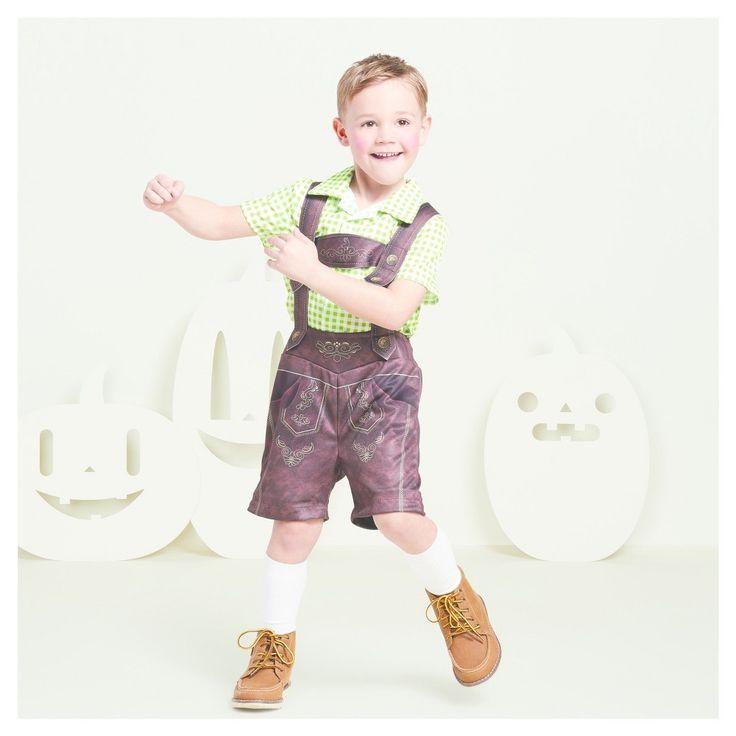 Boys' Lederhosen Costume S (4-6) - Hyde and Eek! Boutique, Brown