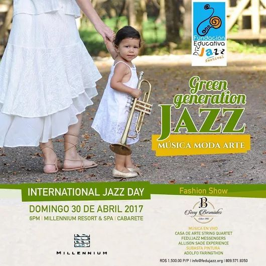Join the FUN in Cabarete for the International Jazz Day Apr 30 and take in all the music your heart can hold! ~~ Could you be at home in this beautiful paradise? say YES! to your heart's desire right here: http://www.our-dominican-republic.com/vecinos_for_sale.html ~~ Photo credit to Dominican Republic Jazz Festival - thx! :)