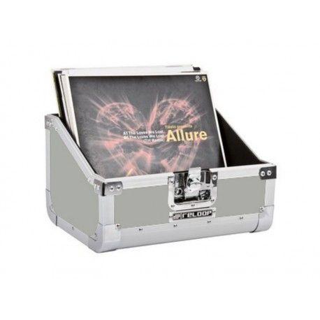 RELOOP CASE 80 SLANTED SILVER = 59 € TTC Valise aluminium de transport pour 80 vinyles Version silver(argent)