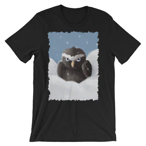 Unisex owl t-shirt, women's graphic tee, men's knit shirt, multiple colors