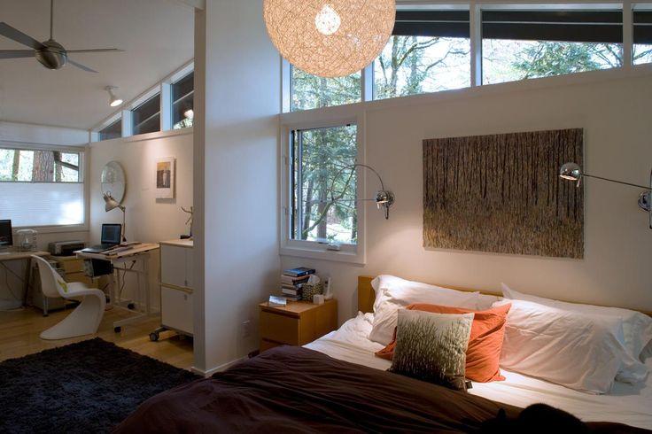 mid century modern schlafzimmer möbel blau stoff moderne