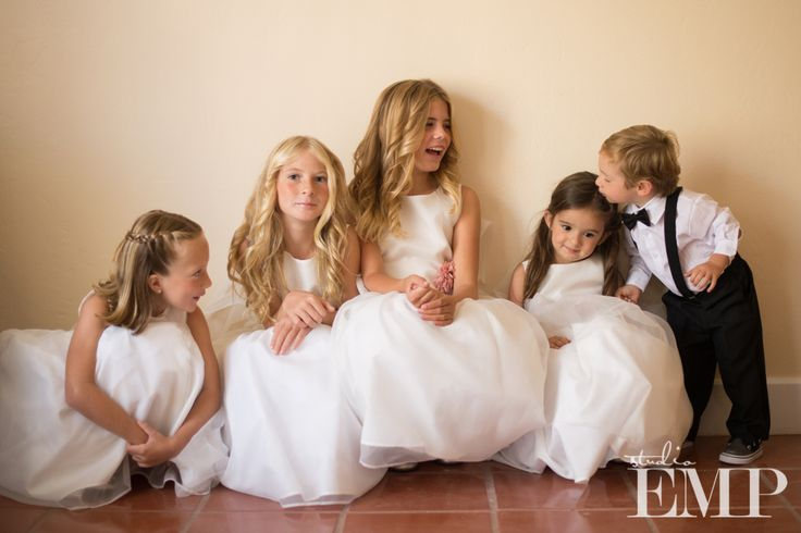 A gorgeous group of flower girls and ring bearers | @Studio EMP Photography
