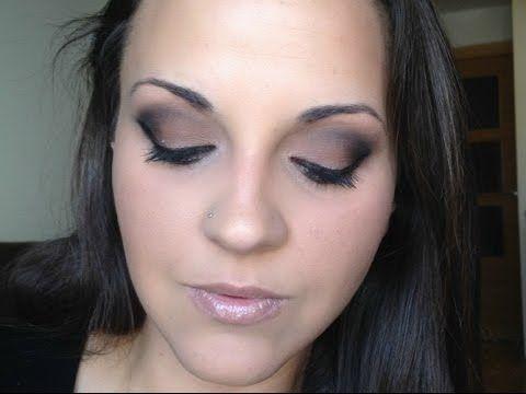 Ahumado marrón (smokey eye) - Cómo maquillar ojos grandes - YouTube