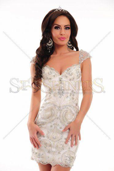 Rochie Sherri Hill 21197 White
