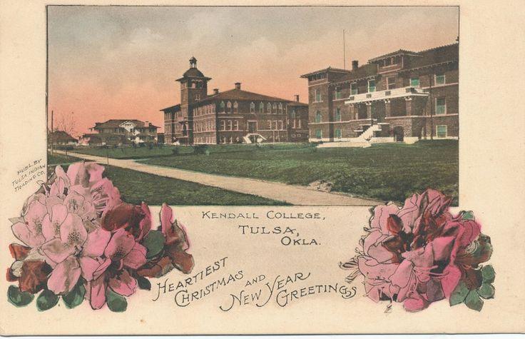 Tulsa, Oklahoma - Kendall College (University of Tulsa) Christmas Greeting 1910?