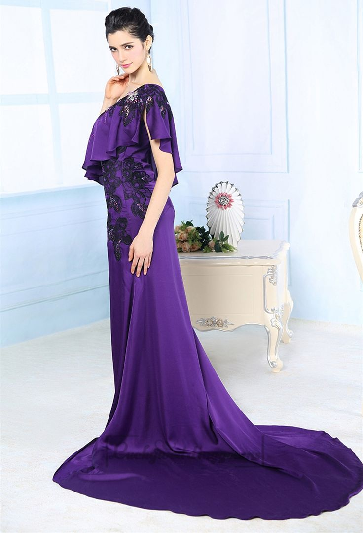 Purple Asymmetrical One-shoulder Embroidered Long Formal Dresses http://www.ckdress.com/purple-asymmetrical-oneshoulder-embroidered-  long-formal-dresses-p-2034.html  #wedding #dresses #dress #Luckyweddinggown #Luckywedding #wed #clothing   #gown #weddingdresses #dressesonline #dressonline #bridaldresses