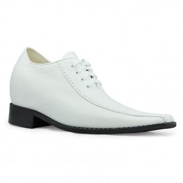 classic european dress style mens height increasing elevator shoes 8cm / 3.15inches taller shoes