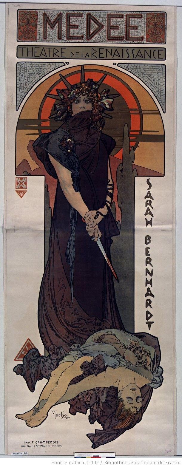 Médée. Théatre de La Renaissance. Sarah Bernardt : [affiche] / Mucha
