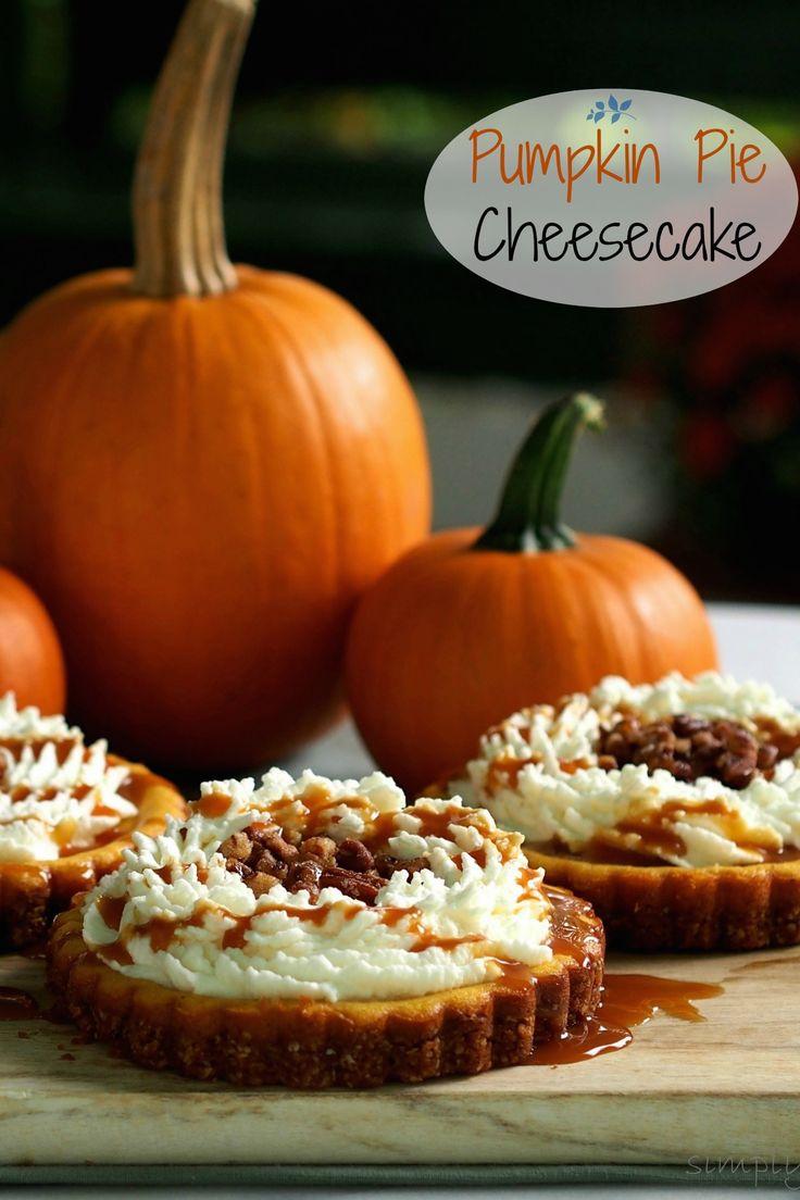 PIe Cheesecake - creamy pumpkin cheesecake topped with mascarpone ...