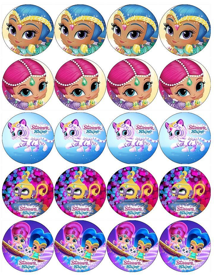 SHIMMER AND SHINE V1 EDIBLE WAFER PAPER TOPPERS CUPCAKE CAKE MUFFIN in Crafts, Cake Decorating   eBay