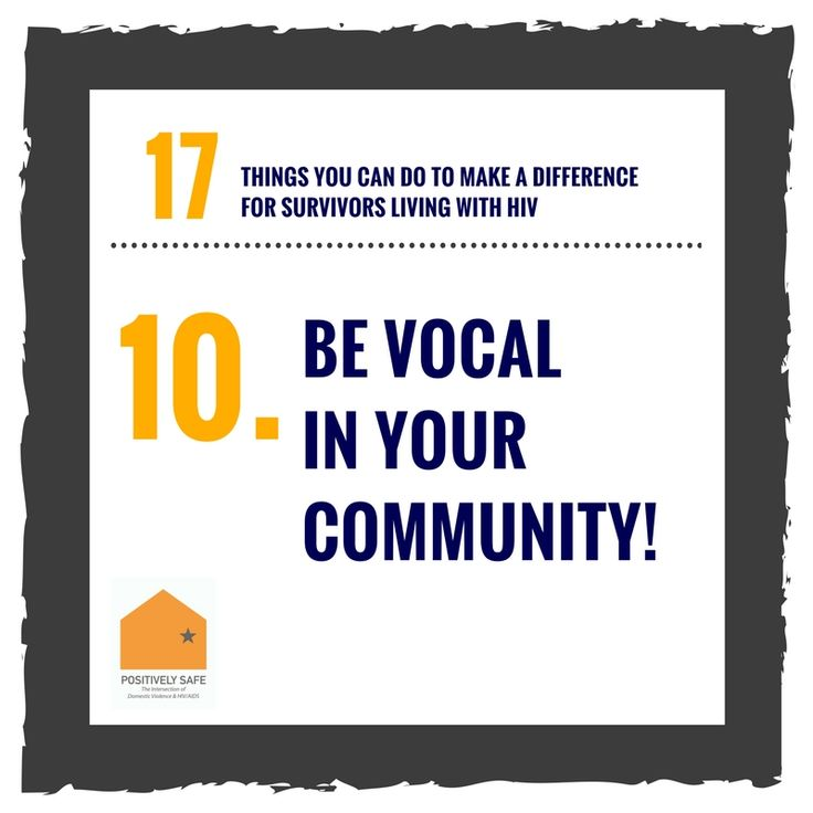 17 Things You Can Do to Make a Difference for Survivors of DV and HIV. Learn more: http://nnedv.org/downloads/HIV/HIV_Toolkit/17Things_final.pdf #DVandHIV #PositivelySafe