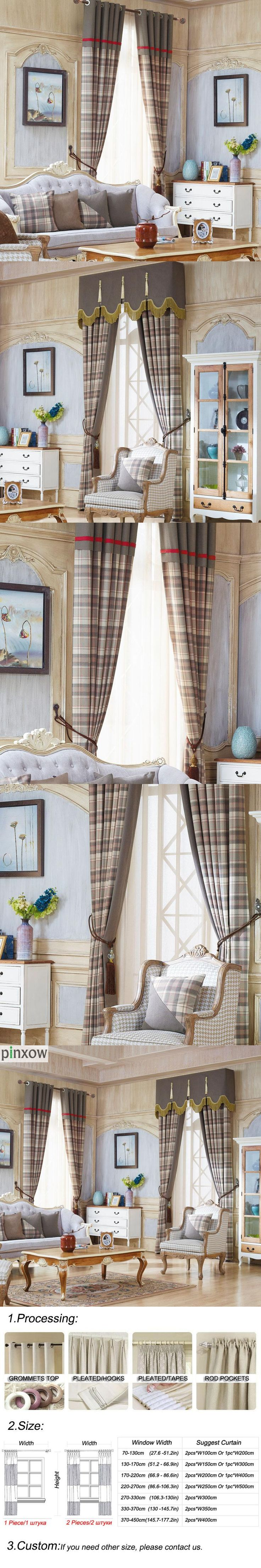 plaid window treatments curtains for living room blackout bedroom panel drapes grey curtains tulle thick blind