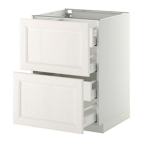 METOD/MAXIMERA Uschr 2 Fr/4 haho Sch - weiß, Laxarby weiß, 60x60 cm - IKEA