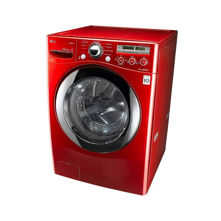 Cherry Red LG Stackable Washer & Dryer