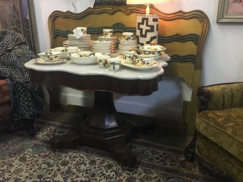 Beautiful Antique 19th Century American Empire Marble Top Table On Sale Was 1650 Price 1295