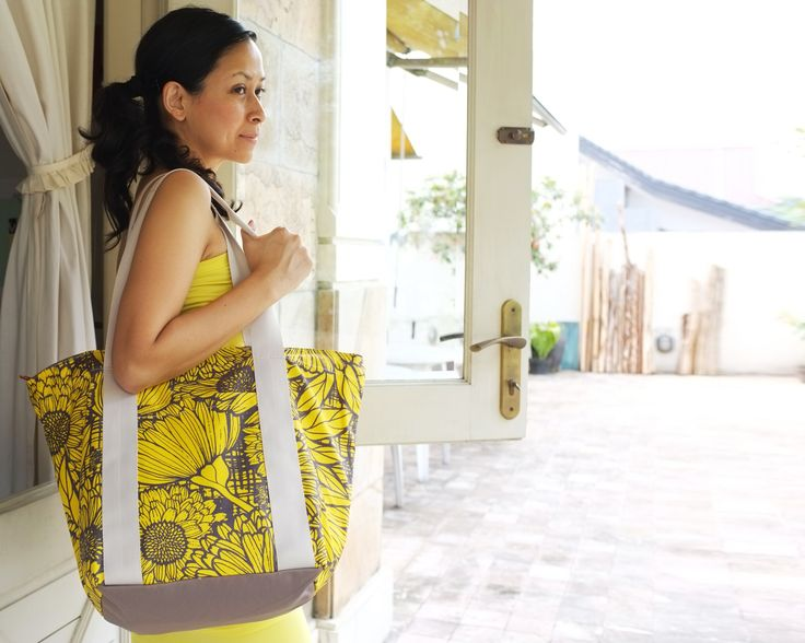 The City Tote in Marigold Knit Yellow Canary