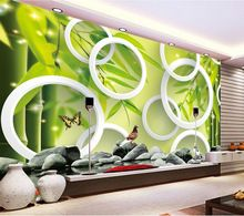 3d Fresh Bamboo Forest Wallpaper #decor #decoration #dekor #wallpaper #wallsticker #livingroom #creative #nice #beautiful