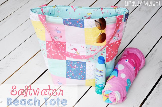 Fort Worth Fabric Studio: Saltwater Beach Tote