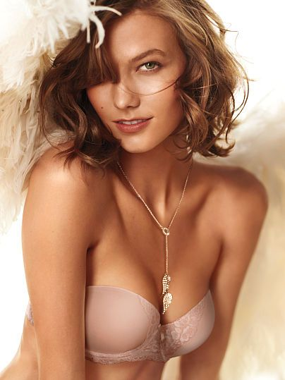 Worn by : Angel Karlie Kloss  Type : Multi Way Bra Color : Blush