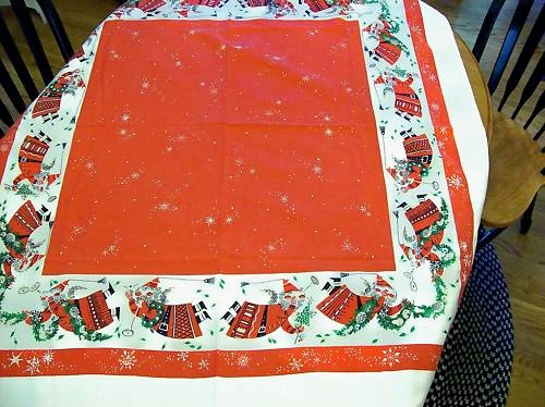 8 best christmas tablecloths images on Pinterest ...