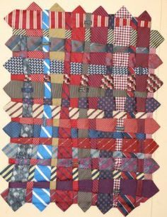 +quilting with neck ties | Deb Rowden's Thrift Shop Quilts: A Memory Tie Quilt by Renay