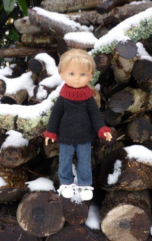 pull col roulé poupée Chérie de Corolle