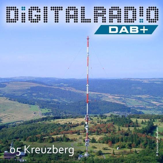 (5) Kreuzberg/Rhön * benannt nach dem auf dem Berg ansässigen Franziskanerkloster * seit 1731 auch mit eigener Brauerei * Bayerischer Rundfunk beginnt UKW-Sendebetrieb 1951 * im Jahr 1985 Errichtung des jetzigen 208 Meter hohen Stahlrohrmast * seit dem 3. November 2000 sendet der Kreuzberg auch Digitalradio ins Land *