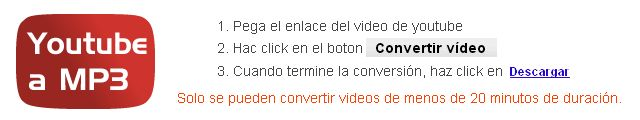 Descargar los videos de Youtube en MP3 http://www.bajaryoutube.com/convertir-youtube-a-mp3.html